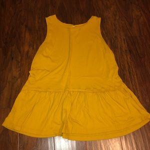 Old Navy Yellow/Gold PeplumTank
